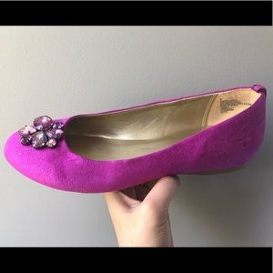 Orchid purple flats with jewel details